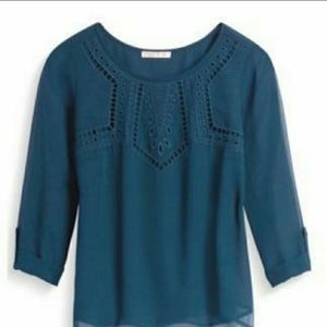 Skies are blue embroidered top medium